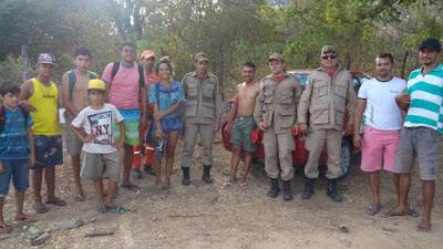 Corpo de Bombeiros de Caicó/RN resgata grupo perdido em Serra Negra do Norte/RN