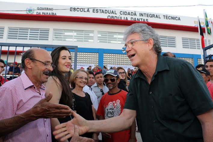 Governador Ricardo inaugura escolas nas cidades de Jericó/PB e Catolé do Rocha/PB