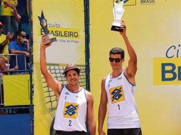 Álvaro e Saymon são vice-campeões na 3ª etapa do Circuito Brasileiro