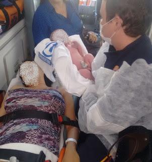 Mais uma Criança nasce durante o atendimento do SAMU de Paulista/PB