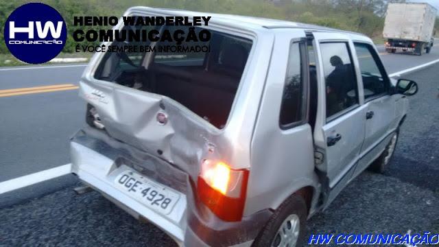 Prefeita de São Bentinho e Presidente do Sindicato dos Trabalhadores Rurais de Pombal se envolvem em acidente na BR 230