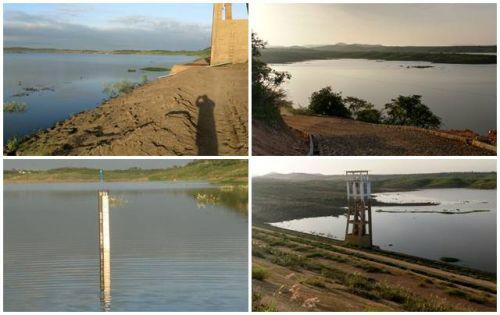 Açude de Coremas consegue tomar 3,63 metros de água; Prefeita anuncia melhorias