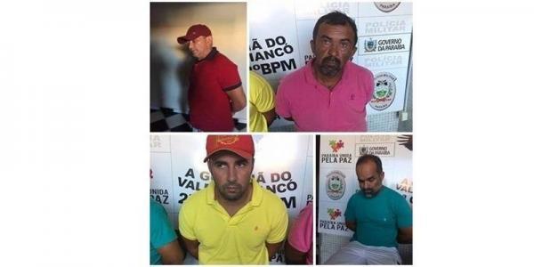 Quatro suspeitos de participarem no assalto da agência do Banco do Brasil de Bonito de Santa Fé/PB são detidos em Conceição/PB; Confira!
