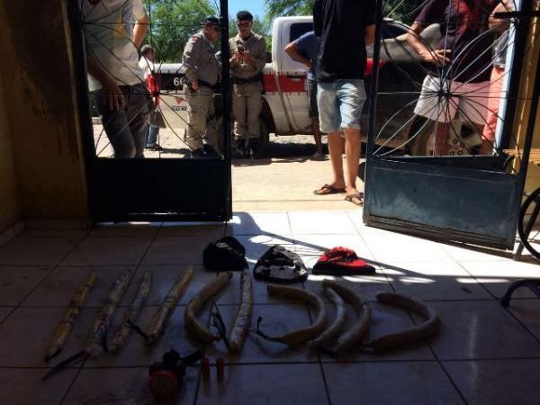 Polícia Militar impede ação de quadrilha que iria assaltar banco em Aguiar na Paraíba