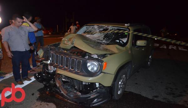 Carro de Advogados colide com Moto e mata montador na BR 230 em Sousa