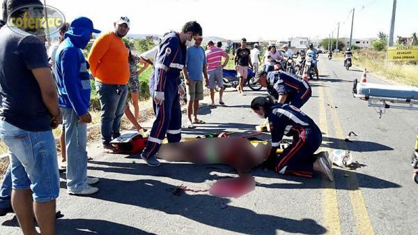 Mulher morre a caminho do HRC após acidente de moto em Uiraúna