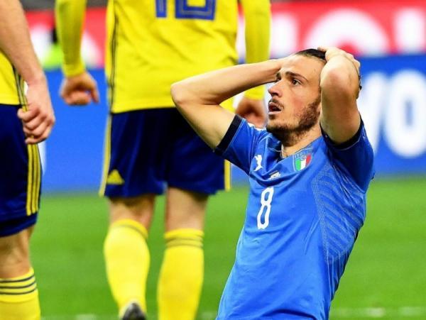 Itália pressiona, mas empata com Suécia e está fora da Copa 2018