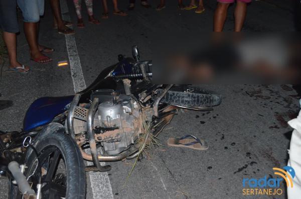 Jovem de 21 anos morre em grave acidente de moto na PB-400, em Monte Horebe/PB