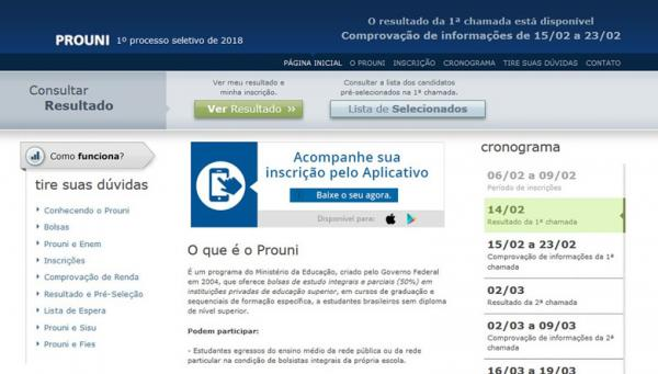 Prouni divulga lista de aprovados para as 4,6 mil bolsas na Paraíba